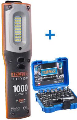 NAREX 65405195 Sada svítilna FL LED 10 M + sada bitů 37-Bit Box                 (7913316)