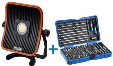 NAREX 65405197 Sada reflektor FL LED 50 ACU + sada bitů 127-Bit Box(7913317)