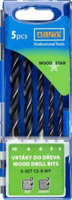 NAREX 65405605 Sada vrtáků do dřeva 4-10mm Carbon (5ks) 5-SET CS-R WP(7916055)