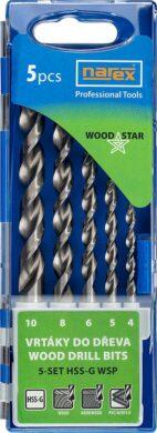 NAREX 65405607 Sada vrtáků do dřeva 4-10mm HSS-G (5ks) 5-SET HSS-G WSP(7916056)