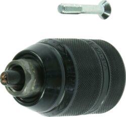 NAREX 00647529 Sklíčidlo rychloupínací 1,5-13 mm kov UNF HM-sklíčidlo rychloupínací pro vrtáky se stopkou 1,5-13mm kovový plášť, závit 1/2 - 20 UNF s pojistným šroubem, karbidové čelisti