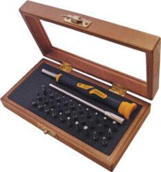 NAREX 850110 Sada 32dílná MICRO nástavců 6RH 4mm-Sada šroubováku s mikro bity v kazetě NAREX