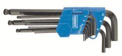 NAREX 443000871 Sada klíčů 9dílná inbus (imbus) 710.609K černý-9dílná sada šestihranných úhlových klíčů s kuličkou pro šroubování pod úhlem (IMBUS) 1,5-10mm - černý DIN710