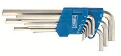 NAREX 443000860 Sada klíčů 9dílná inbus (imbus) 710.609P Crv-9dílná sada šestihranných prodloužených úhlových klíčů (IMBUS) 1,5-10mm - zinkovaný DIN710