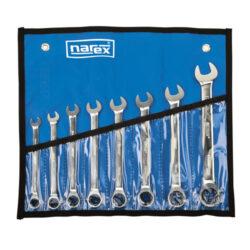 NAREX 443000594 Sada klíčů 8dílná ráčnových vinyl DIN3113-8dílná sada ráčnových klíčů ve vinylovém pouzdře DIN3113
