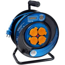 NAREX 65404962 Kabel 50m na cívce 4zásuvky IP44 3x1,5mm guma PBN50              -Kabel 50m na cívce 4zásuvky IP44 3x1,5mm guma PBN50
