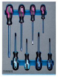 NAREX 443001398 Modul šroubováků S-LINE 8dílný-Modul šroubováků S-LINE 8dílný
