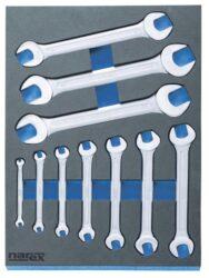 NAREX 443001400 Modul klíčů oboustranných DIN3110 10dílný-Modul klíčů oboustranných DIN3110 10dílný