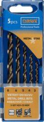 NAREX 65405604 Sada vrtáků do kovu 3-8mm 5% Cobalt (5ks) 5SET HSS-Co MSP-Sada vrtáků do kovu 3-8mm 5% Cobalt (5ks)