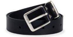 NAREX 443002352 Opasek kožený Classic 110cm černý-Černý kožený opasek NAREX Classic L110cm s nerezovou sponou